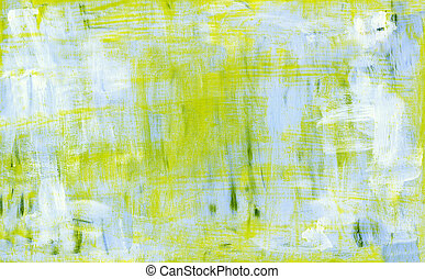 Blue and yellow abstract acryl painting background. Grunge...