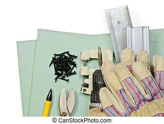drywall, 集合, 工具