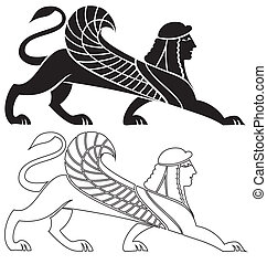 Sphinx - illustration of sphinx silhouette ready for cutting...