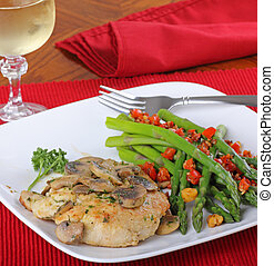 Chicken Fillet Meal - Fried chicken breast covered with a...