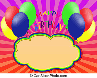 Happy birthday background with space for text, vector...