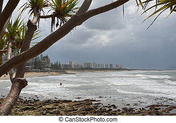 Alexandra Headlands on the Sunshine Coast in Queensland. The...
