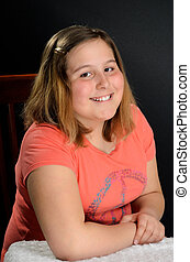 Preteen - Portait of a happy preteen girl