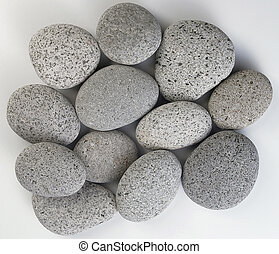 Stones - A pile of grey stones.