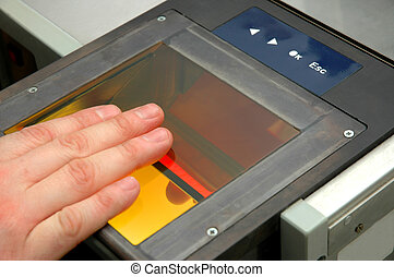 fingerprints are are being taken to Automated Fingerprint...