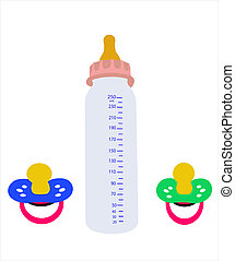 The Nursery bottle. - The Bottle for small child on white...