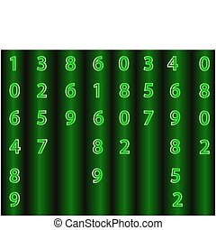 Vector background from numbers.