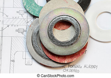 Gasket - set of gaskets with calculation of flange boltings-...