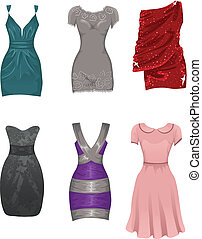 Female dresses - Set of female dresses