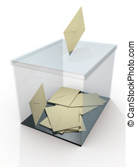 Ballot box vote - Democracy Ballot box in a referendum...