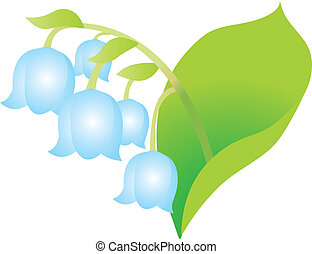 Flower on a white background. Vector Illustration.