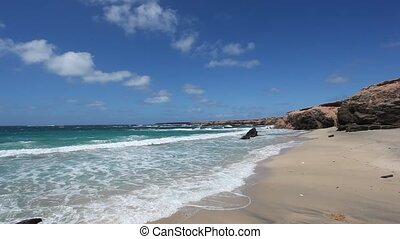 Beautiful beach on Canary Island Fuerteventura, Spain