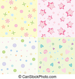 Seamless tile childrens backgrounds - Seamless tile...