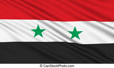 Syrian Flag, with real structure of a fabric