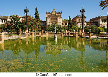 Monuments of Seville, Spain - Historic buildings of...