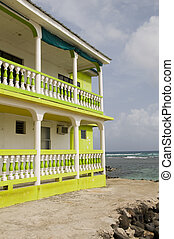 colorful building waterfront Big Corn Island Nicaragua