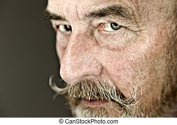 old man - An old man with a grey beard