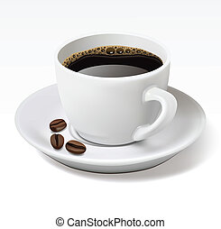 Coffee cup - Cup of black coffee isolated