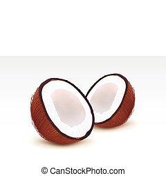 Coconut - Broken coconut