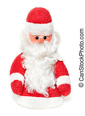Vintage Santa Claus doll isolated on a white background