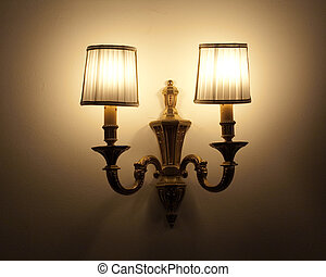 lamp - the lamp on the wall