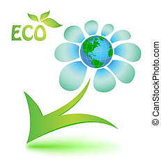 Ecological symbol with mother Earth