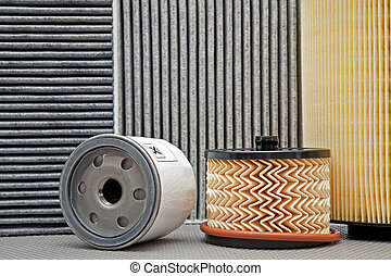 five various car filters - various filters used for car...