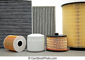 various car filters - various filters used for car service...