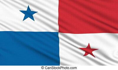 Panama flag, with real structure of a fabric