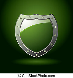 Green shield blank