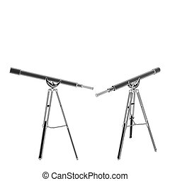 Antique Telescope Vector