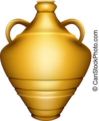 Urn - Editable vector illustration of a golden urn made with...