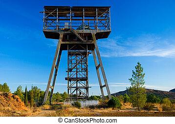 Cielna, górnictwo, stary, opuszczony, wieża