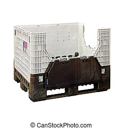 Crate pallet - Plastic crate pallet isolated included...