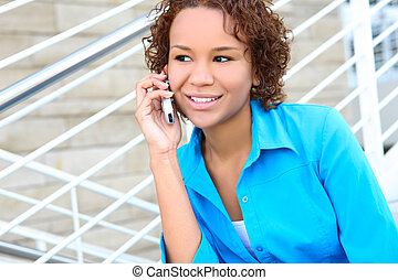 Pretty African Business Woman - Pretty african american...