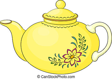 Teapot with pattern