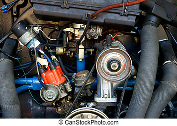 Detail of classic engine - Details of a classic aircooled...