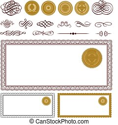 Vector Blank Certificate Set Easy to edit Perfect for...
