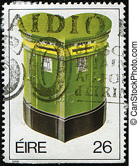 Greetings Stamps, Heart-shaped pillar-box - IRELAND - CIRCA...