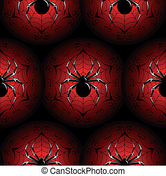 Halloween seamless - Halloween black seamless with a spiders...