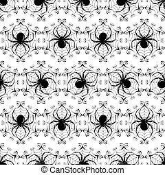 Halloween seamless - Halloween black seamless with a...