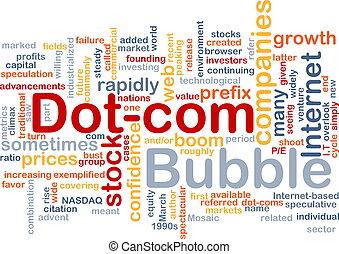 Dot-com bubble background concept - Background concept...
