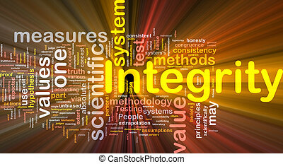 Integrity is bone background concept glowing - Background...