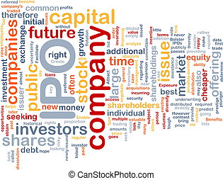 Company IPO is bone background concept - Background concept...