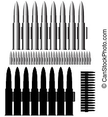 munitions - vector - Image of the bullets - munitions -...