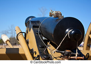 Civil War Cannon - Antique Civil War cannon on the...