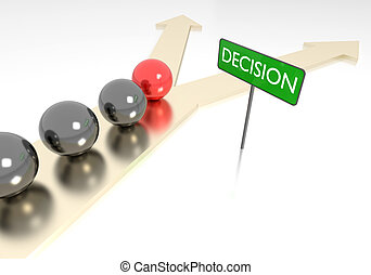 Decision making - 3D rendering of decision making
