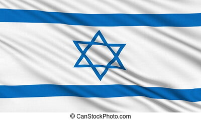 Israeli Flag, with real structure of a fabric