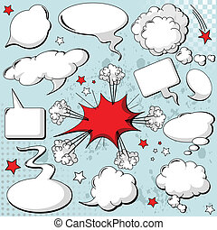 Comics style speech bubbles balloons on background
