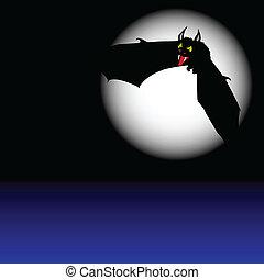 bat in flight illustration